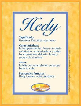 Nombre Hedy
