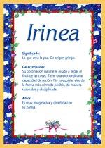 Nombre Irinea