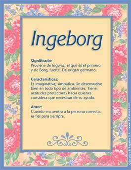 Nombre Ingeborg