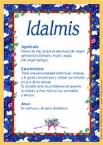 Nombre Idalmis