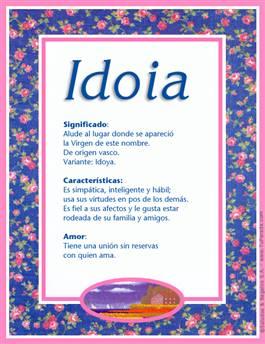 Nombre Idoia