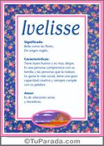 Nombre Ivelisse