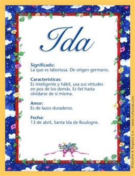 Nombre Ida
