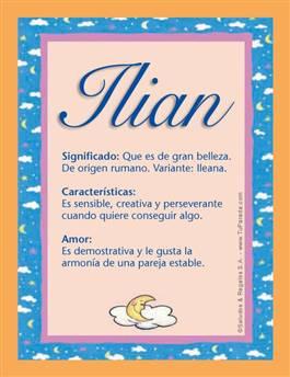 Nombre Ilian