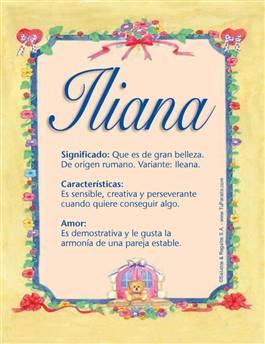 Nombre Iliana