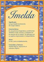 Nombre Imelda
