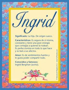 Nombre Ingrid