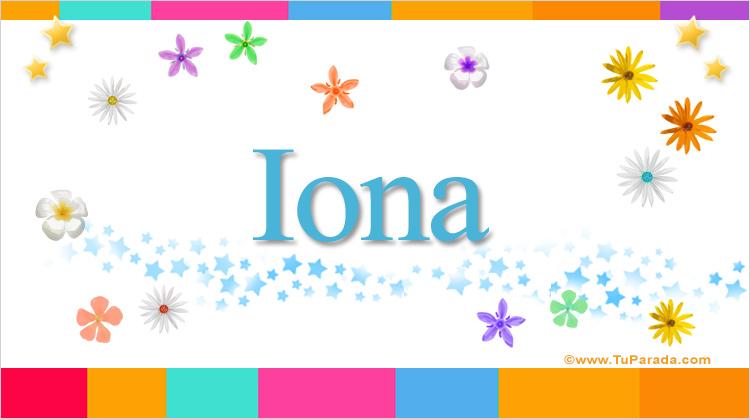 Iona, imagen de Iona