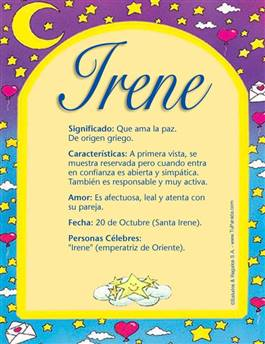 Nombre Irene