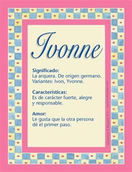 Nombre Ivonne