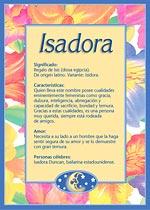 Nombre Isadora