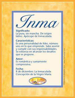 Nombre Inma