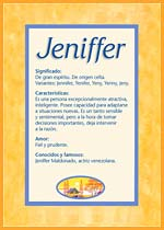 Nombre Jeniffer