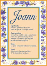 Nombre Joann