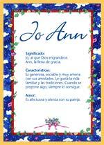 Nombre Jo Ann