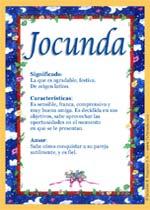 Nombre Jocunda