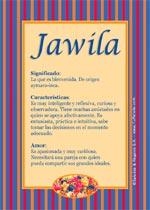 Nombre Jawila