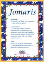 Nombre Jomaris