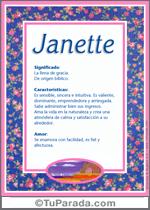 Nombre Janette