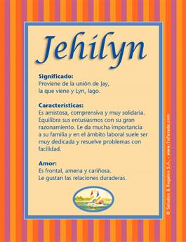 Nombre Jehilyn