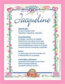 Nombre Jacqueline