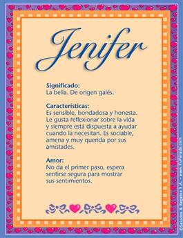 Nombre Jenifer