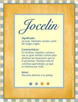 Nombre Jocelin
