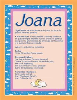 Nombre Joana
