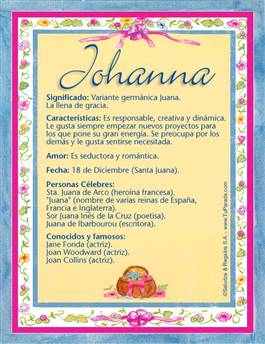 Nombre Johanna