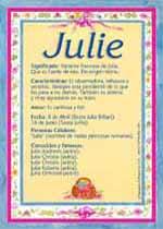 Nombre Julie