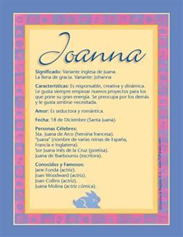 Nombre Joanna