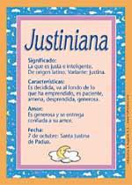 Nombre Justiniana