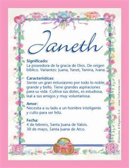 Nombre Janeth