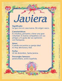 Nombre Javiera