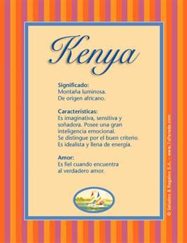 Nombre Kenya