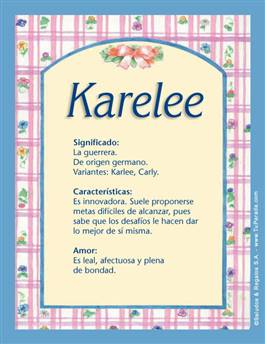 Nombre Karelee