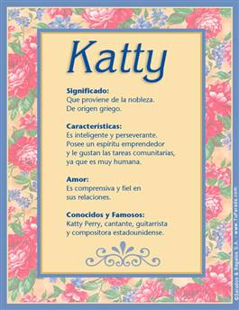 Nombre Katty