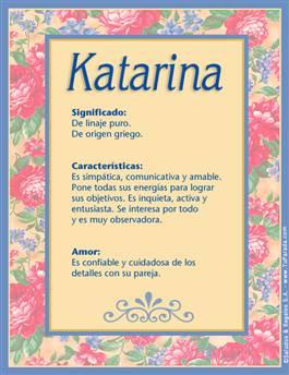 Nombre Katarina