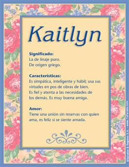 Nombre Kaitlyn
