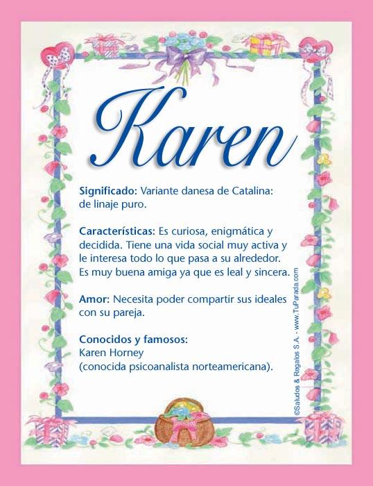 Karen K Tarjetas