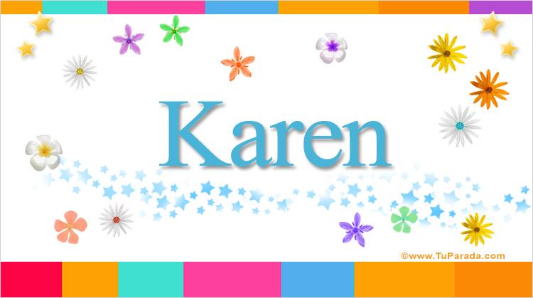 Karen Nombres Populares De Mujer Tarjetas