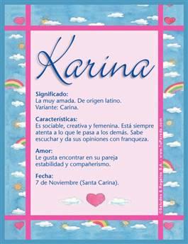 Nombre Karina