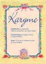 Nombre Karyme