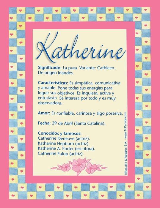 Katherine, imagen de Katherine