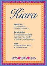Nombre Kiara