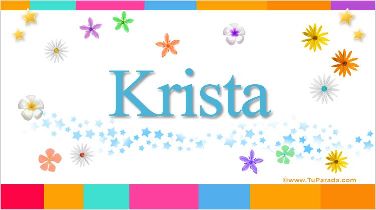 Krista, imagen de Krista