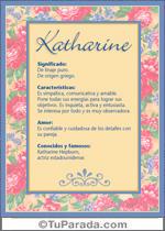 Nombre Katharine