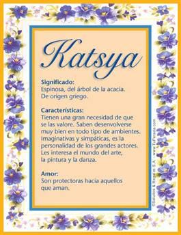 Nombre Katsya