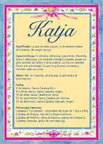 Nombre Katja