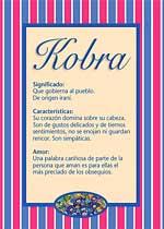 Nombre Kobra